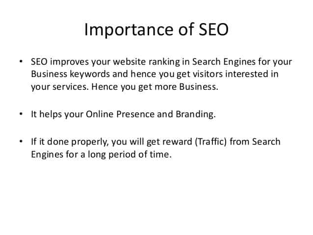why seo is important in pretoria